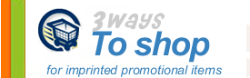 <Shop 3 ways for promotional items>